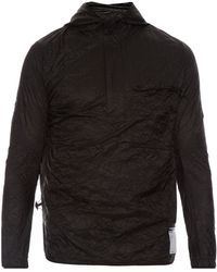 Satisfy Self-stowing Nylon Windbreaker Jacket - Black