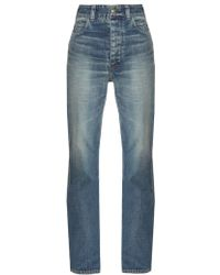 Visvim High Waist Jeans - Blue
