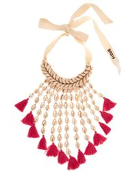 Figue - Sina Shell And Tassel Necklace - Lyst