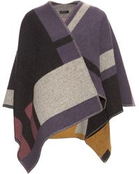Burberry Prorsum - Wool And Cashmere-blend Wrap - Lyst