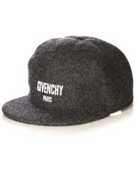 Givenchy - Logo-embroidered Wool-blend Cap - Lyst