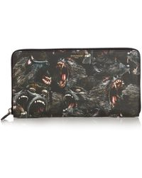 Givenchy - Screaming Monkey Leather Travel Wallet - Lyst
