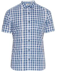 Burberry Brit - Short-sleeved Checked Cotton Shirt - Lyst