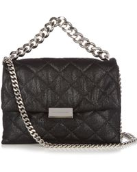 Stella McCartney - Beckett Quilted Faux-suede Shoulder Bag - Lyst