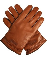 Giorgio Armani - Leather And Suede Gloves - Lyst