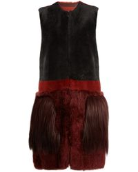 Bottega Veneta Fur-Pocket Shearling Gilet - Multicolour