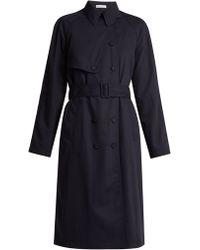 Tomas Maier Wool-gabardine Trench Coat - Blue
