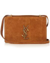 Saint Laurent Small 'dylan' Crossbody Bag - Brown