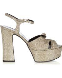 Saint Laurent Candy Metallic Platform Sandals