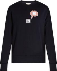 Acne Studios - Carly Emoji Round-neck Sweatshirt - Lyst