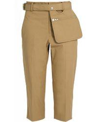 Yohji Yamamoto Regulation - High-rise Cropped Pants - Lyst