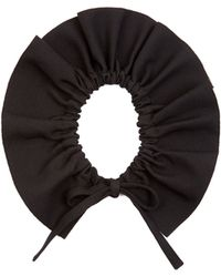 MSGM - Ruffled Crepe Collar - Lyst