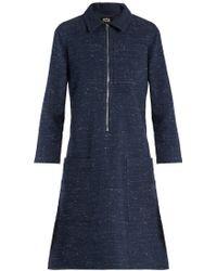 A.P.C. - Zira Cotton And Linen-blend Dress - Lyst