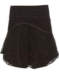 Cecilie Copenhagen - Panola Fil Coupé Mini Skirt - Lyst