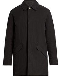 A.P.C. Léman Coated Cotton-canvas Trench Coat - Black