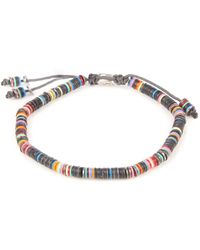 M. Cohen - African Vinyl Disc-bead And Silver Bracelet - Lyst