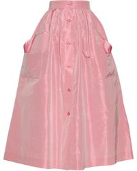 The Vampire's Wife Visiting Silk-taffeta Skirt - Pink