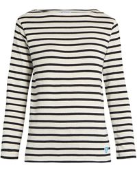 Orcival - Breton-striped Cotton And Wool-blend Top - Lyst