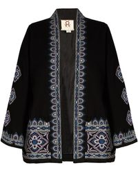 Figue | Haveli Embroidered Wool And Cashmere-blend Jacket | Lyst