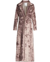 Rosie Assoulin - Notch-lapel Velvet Coat - Lyst