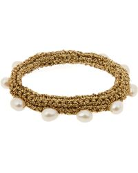 Lucy Folk - Pearl Diver Crochet And Pearl Bracelet - Lyst