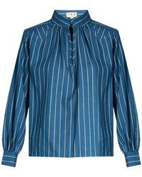 Trademark - Hardin Striped Cotton Shirt - Lyst
