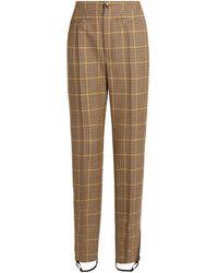 Balenciaga Hound's-tooth Wool Stirrup Trousers - Brown
