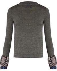 Kolor Contrast-cuff Wool Sweater
