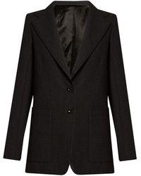 Lemaire - Notch-lapel Single-breasted Wool Jacket - Lyst