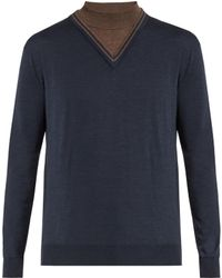 Orley - Dickie Stand-collar Wool Jumper - Lyst