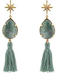 Marte Frisnes white and gold metallic ziggy sterling silver earrings KgAqPNPxUy
