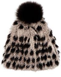 Diane von Furstenberg - Fur Pompom Hat - Lyst