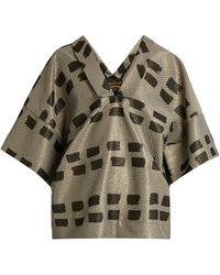 Vivienne Westwood Anglomania - Kick Out Jacquard Kimono Top - Lyst