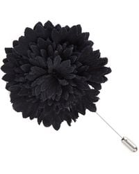 Lanvin Flower Tie Pin - Gray