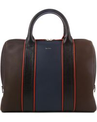 Paul Smith - Colour-block Leather Piped Briefcase - Lyst