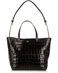 Elizabeth and James - Eloise Crocodile-effect Leather Tote - Lyst