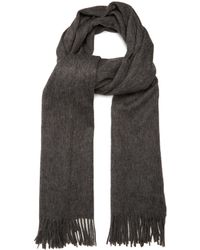 Mulberry - Fringed Wool Scarf - Lyst
