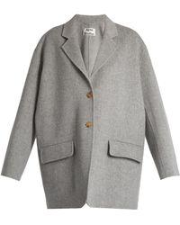 Acne Studios Lupi Doublé Wool-blend Coat - Grey