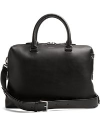 Lanvin - Grained-leather Briefcase - Lyst