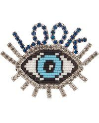 Shourouk - Emojibling Look Eye Brooch - Lyst