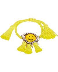Shourouk Hippie Happy Face Bracelet - Yellow