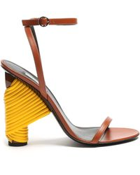 Balenciaga - Bistrot Leather Sandals - Lyst