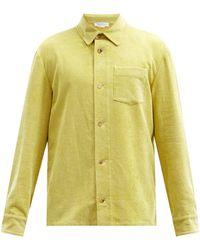 Gabriela Hearst Drew Chest-pocket Linen-blend Corduroy Overshirt - Green