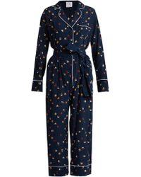 Stella Jean - Circle-print Silk-crepe Jumpsuit - Lyst