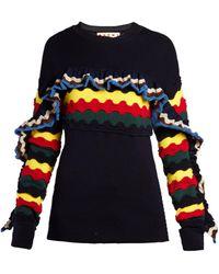 Marni - Ric Rac Ruffled Sweater - Lyst