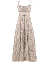 Zimmermann Heathers Tiered Floral Print Linen Dress - Multicolour