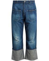Loewe Fisherman Distressed Jeans - Blue