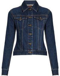 Rockins Button-down Denim Jacket - Blue