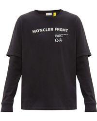 7 MONCLER FRAGMENT Layered Logo-print Cotton-jersey T-shirt - Black