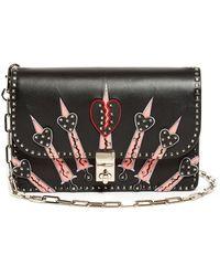 Valentino - Rockstud Love Blade Leather Shoulder Bag - Lyst